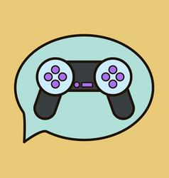 Icon of social media e-mail game joystick message vector