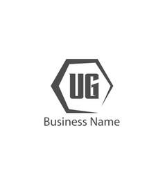 initial letter ug logo template design vector image