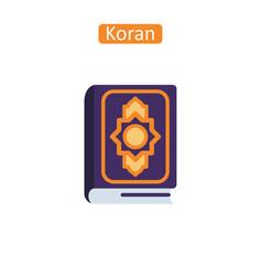 Koran book fatl icon vector