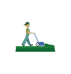 Lawnmower on lawn or color vector