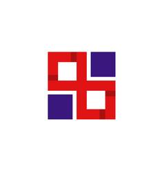 letter x square monogram logo vector image