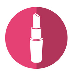 lipstick make-up cosmetic icon shadow vector image