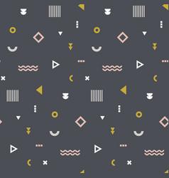 memphis seamless pattern repetitive print vector image