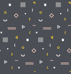 memphis seamless pattern repetitive print with vector image