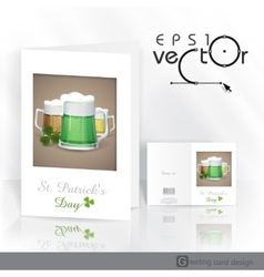 Mug Of Green Beer For St Patricks Day vector