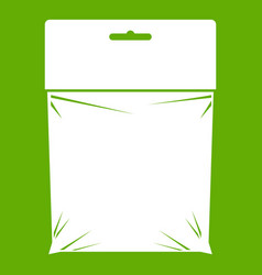 Package icon green vector