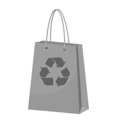 Package recycling icon gray monochrome style vector image
