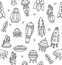 Pattern spaceshipsshuttles space plates vector