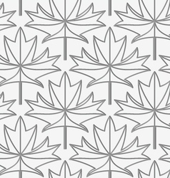 Perforated maple leaves with veins vector image
