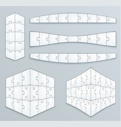 piece jigsaw puzzle template vector image