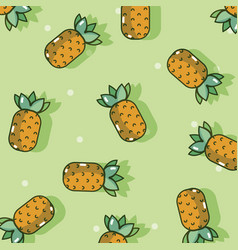 Pineapples pattern background vector