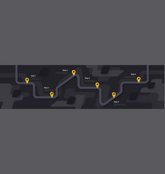 Road map and journey route infographics template vector