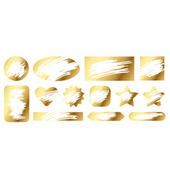 scratch cards lottery game gold texture for lucky vector image