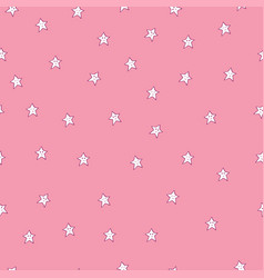 seamless childish pattern with smiling and vector image
