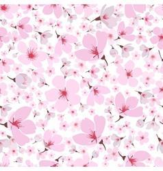 Seamless pattern of pink spring Sakura blossom vector image