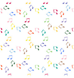 seamless pattern with musical notes and treble vector image