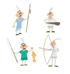 Set Indians vector