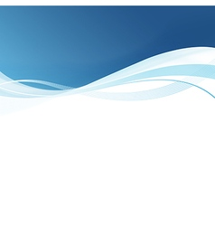 Smooth blue lines abstract background vector image