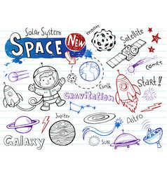 space doodles collection vector image