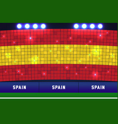 Spain flag card stunts vector