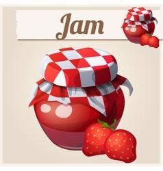 Strawberry Jam vector image