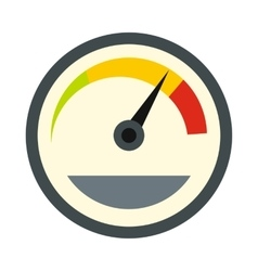 Tachometer icon in flat style vector