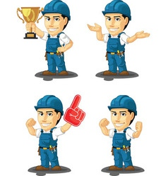 Technician or Repairman Mascot 14 vector image