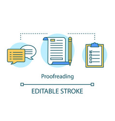 Translation services concept icon proofreading vector