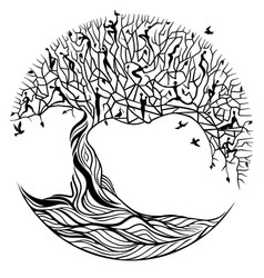Tree of life on a white background vector