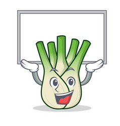 Up board fennel character cartoon style vector