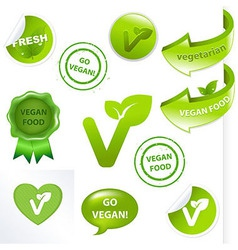 Vegan Elements Set vector