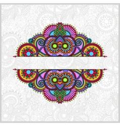 vintage ethnic ornamental template vector image