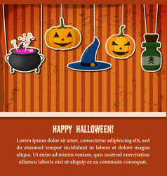 vintage halloween party festive template vector image