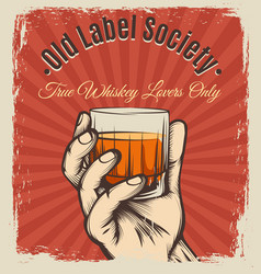 Whiskey vintage poster vector