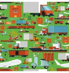 Worldwide logistic seamless pattern vector