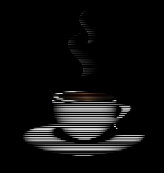 abstract white cup vector image vector image