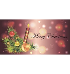 Banner for christmas and new year vector image