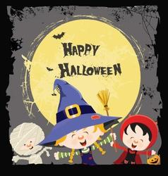 Halloween Kids Card vector image vector image