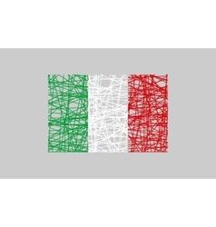 Italy flag design concept vector image vector image
