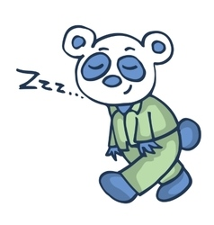 Sleepy panda funny cartoon design vector image vector image