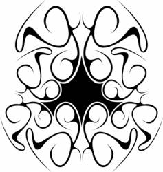black abstract tribal design vector image