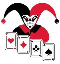Joker vector image