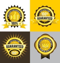 Satisfaction Guaranteed and Premium Quality Gold vector image