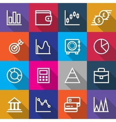 Set of Business Finance Icons Designs vector image vector image