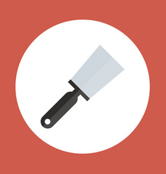 spatula icon working hand tool equipment concept vector image vector image
