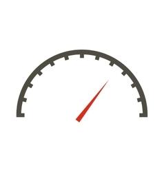White speedometer icon flat style vector image vector image