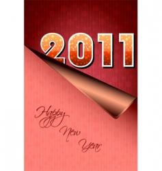 2011 sticker vector image vector image