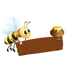 A bee and the empty signage vector image