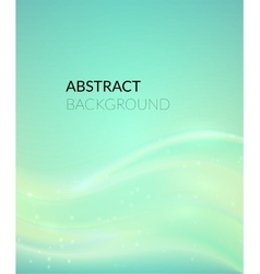 Abstract cyan background with smooth lines vector image