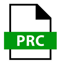 file name extension prc type vector image vector image